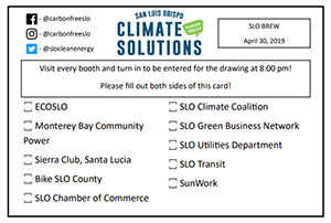 SLO Climate Solutions Series Kickoff Passport Front