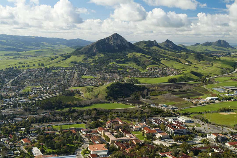 View of Bishop Peak in San Luis Obispo, CA