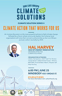 SLO Solutions Series II - Climate Action that Works for Us Flyer