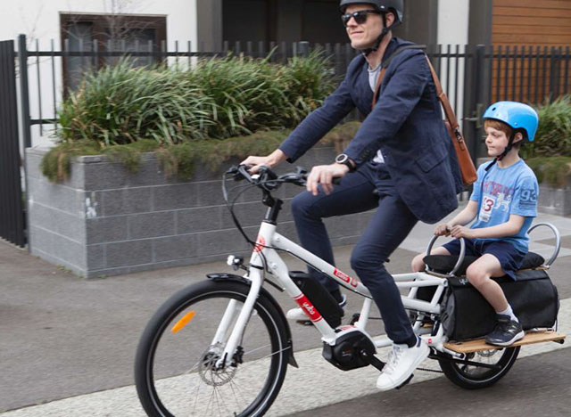 Parent and Child Commuting via Electric Bike