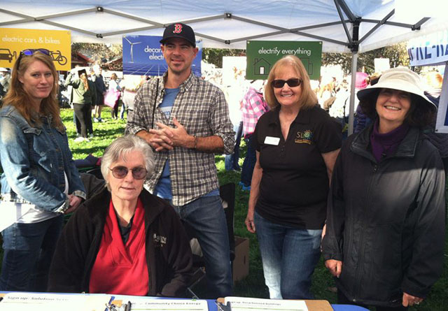 SLO Climate Coalition Booth at Womens March in San Luis Obispo, CA - January 19, 2019